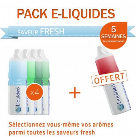 Pack 5 semaines saveur Fresh + 1 gratuit