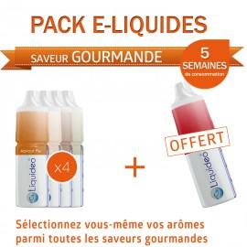 Pack PROMO 5 semaines saveur Gourmande dont 1 gratuit