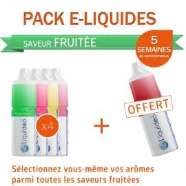 Pack PROMO 5 semaines saveur Fruitée dont 1 gratuit
