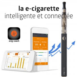 Kit Ecig-Coach 900mAh connectée bluetooth