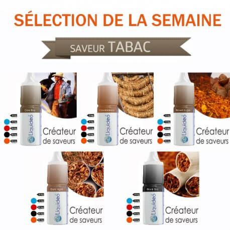 Sélection de la semaine 5 e-liquides SAVEUR TABAC