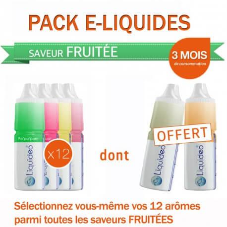 Pack 3 mois saveur Fruitée dont 2 gratuits