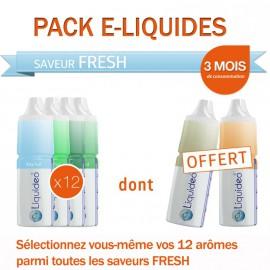 Pack 3 mois saveur Fresh dont 2 gratuits