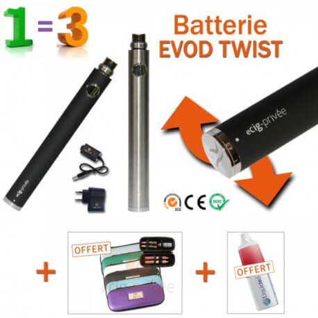 PROMO-Batterie 900mAh EVOD TWIST + 2 accessoires GRATUITS
