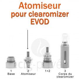 Pack de 5 résistances pour clearomizer EVOD