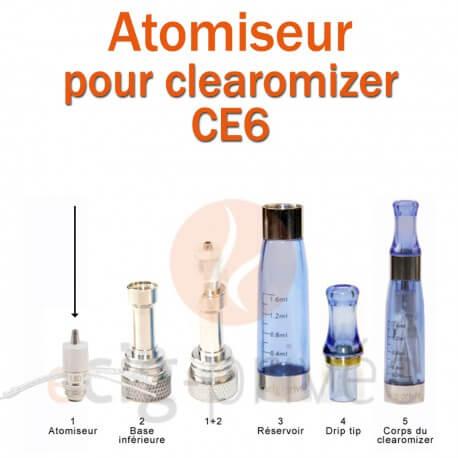 Pack de 5 résistances pour clearomizer CE6