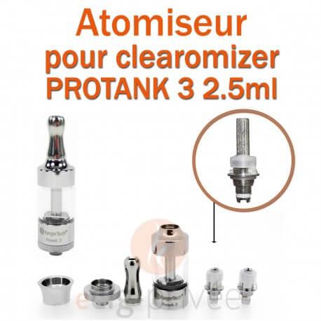 Pack de 5 résistances pour pour clearomizer PROTANK 3 2.5ml