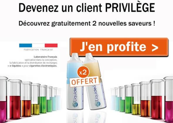 Gagnez 2 e-liquides GRATUITS