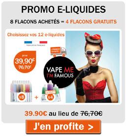 8 e-liquides achetés = 4 e-liquides gratuits