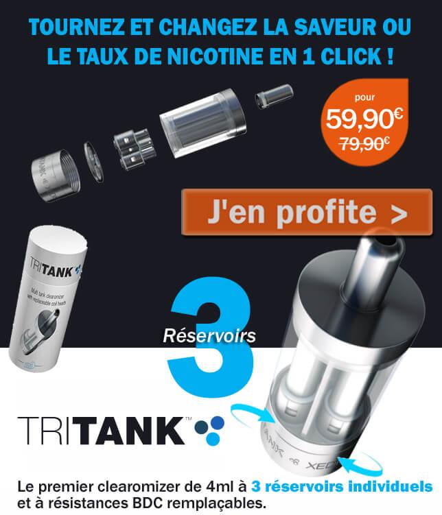 Découvrez le TRITANK, 3 réservoirs individuels dans le même clearomizer !